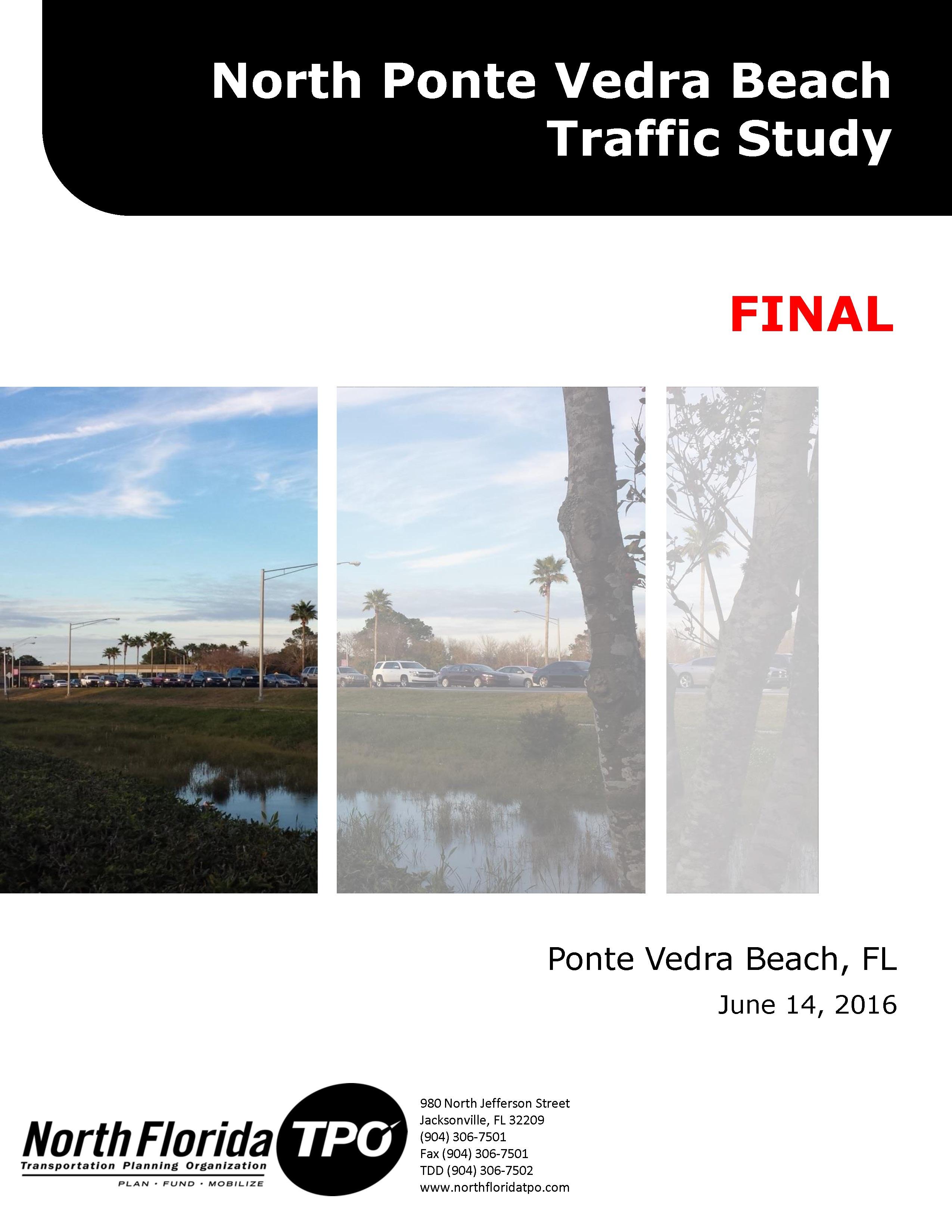North Ponte Vedra Beach Traffic Study Final 6 14 16 cover