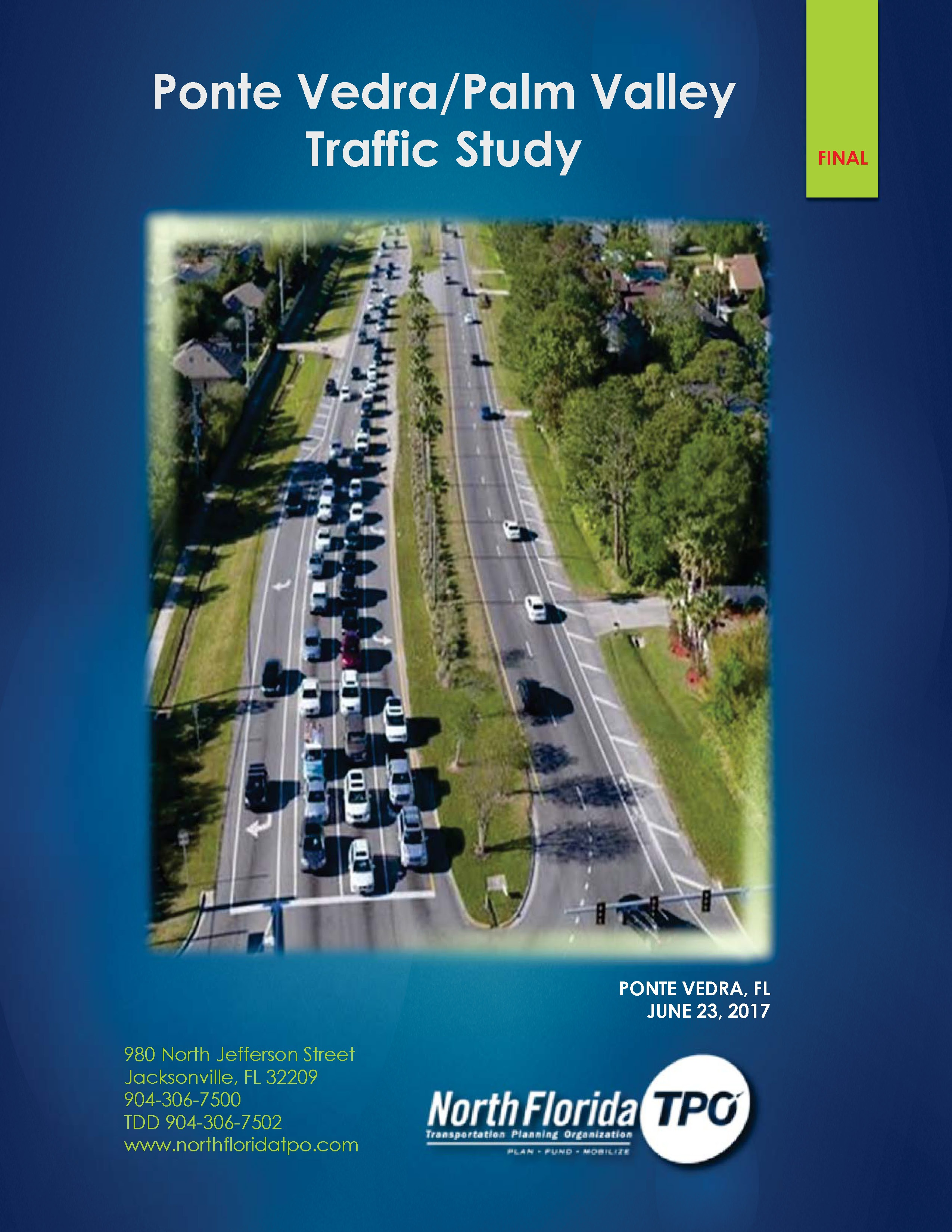 Ponte Vedra Palm Valley Traffic Study FINAL cover2